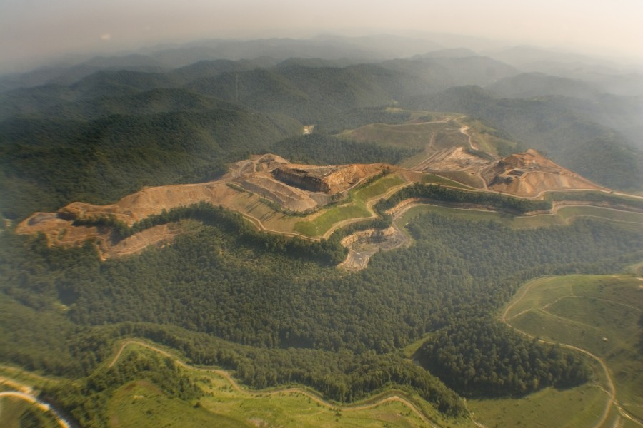 Mountaintop Removal Mine in Hoover Knob in WV Flight provided courtesy of Southwings
