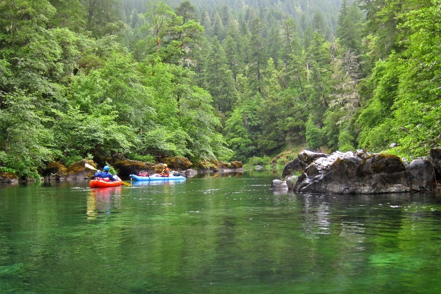 The Scenic section of the National Wild and Scenic Chetco River that's subject to the Chetco River Protection Act.  The Act would withdraw 17 miles of the Scenic and Recreational sections of the river from the 1872 Mining Law